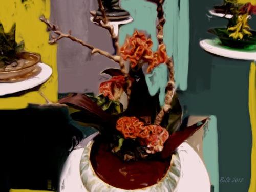 Classical Oil Flower Arrangement 21