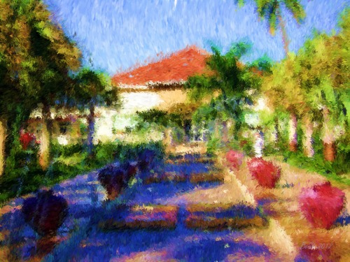 Tropical Visit-Impessionist Painting(11)