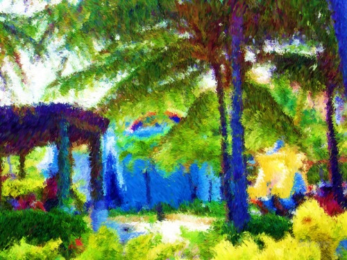 Tropical Visit-Impessionist Painting(12)