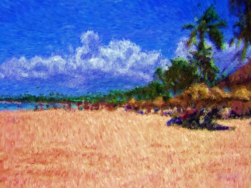 Tropical Visit-Impessionist Painting(2)