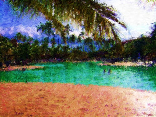 Tropical Visit-Impessionist Painting(3)