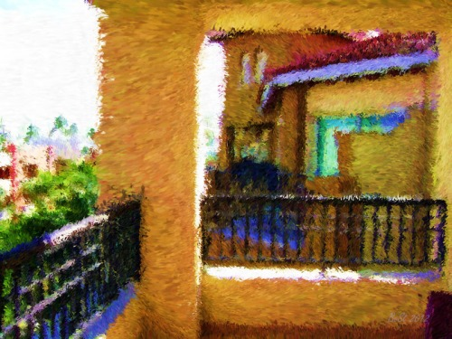 Tropical Visit-Impessionist Painting(4)