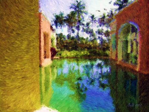 Tropical Visit-Impessionist Painting(6)