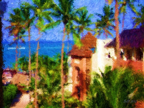 Tropical Visit-Impessionist Painting(8)