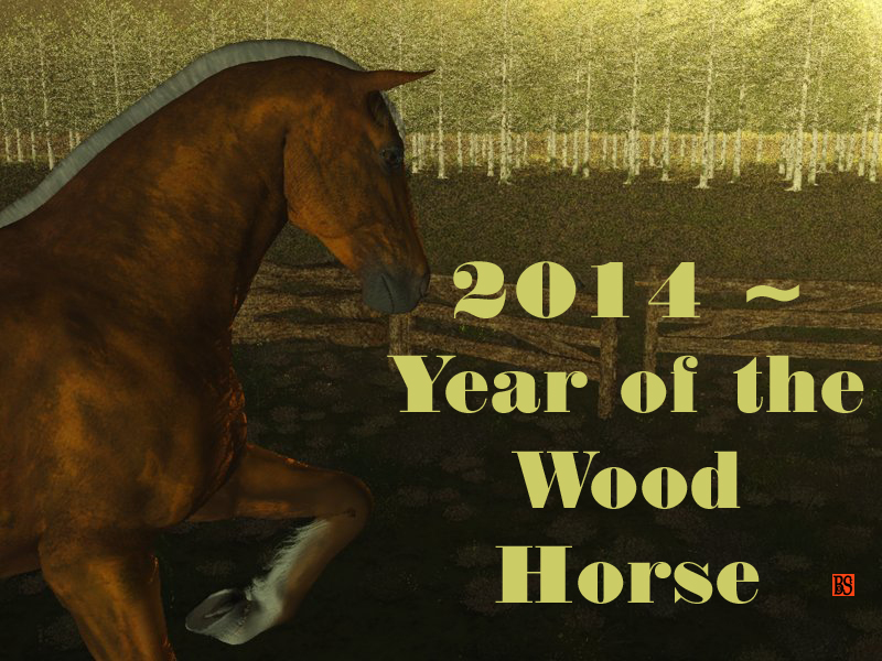 Animal Predictions for 2014 – Year of the Yang Wood Horse (Jia Wu)