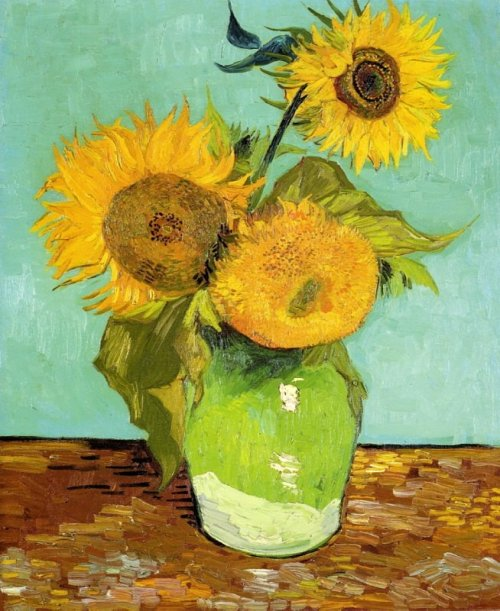 Sunflowers, 1888., by Vincent Van Gogh