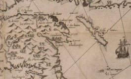 Chaleur Bay and Gulf of Saint Lawrence — extract of Champlain 1612 Map