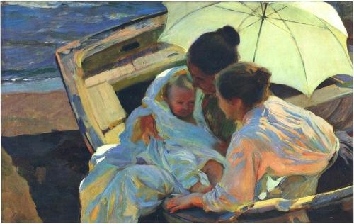18-Joaquin Sorolla y Bastida, (Spagna, 1863-1923) Dopo il bagno - After the Bath (1902)