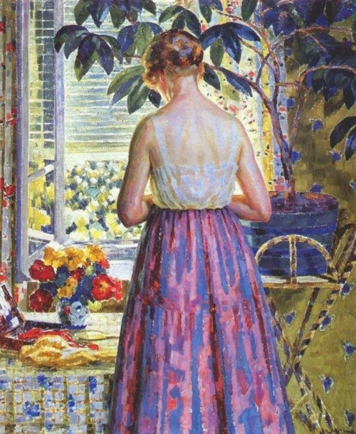 20-Lady by a Window 1918- Louis Ritman -American (1889–1963)