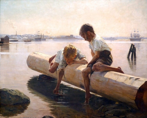 21-Little Boat - 1884-Albert Edelfelt -Finnish, 1854-1905