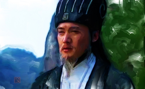 25-_Zhuge Liang observes fierce fighting