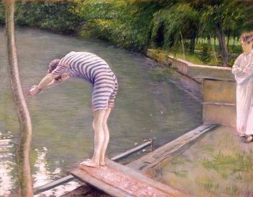 4-Caillebotte, Gustave - French, 1848-1894 - The Diver - 1877