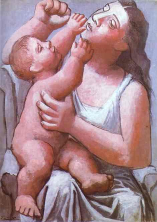 9-Mother and son- Pablo Picasso