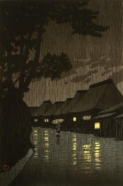 05-Rainy-night-at-Maekawa---Hasui-Kawase-(1883 – 1957) -800--2