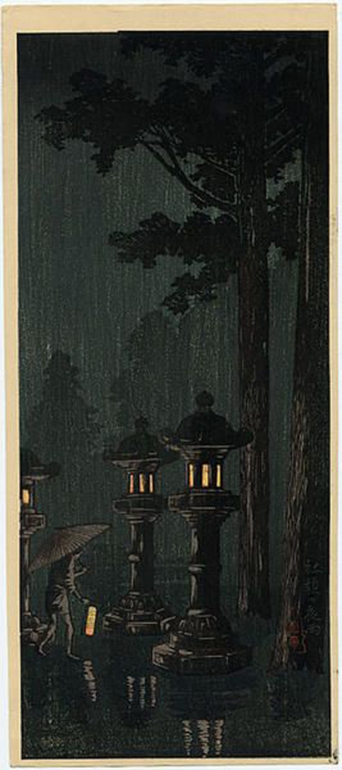 07-Takahashi-Shotei-(1871-1945)---Night-rain-at-a-shrine--800