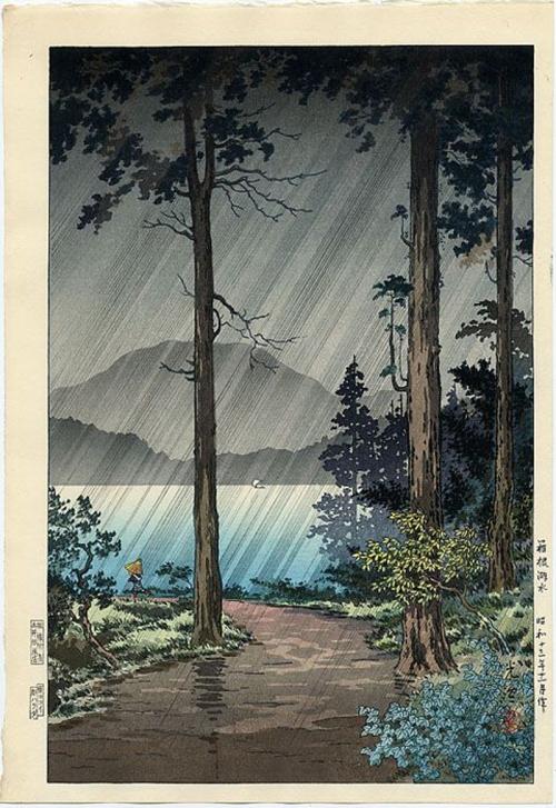 11-Morning-Rain-at-Hakone,-woodblock-print,-by-Tsuchiya-Koitsu,-(1938)-c.1948-800
